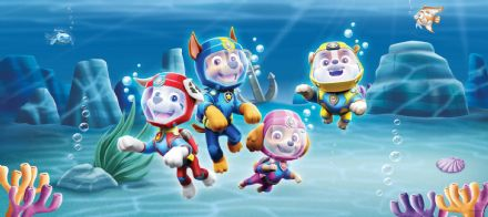"Paw Patrol Panoramic wall mural wallpaper 202x90cm ""Underwater"""